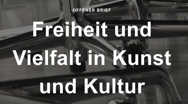 Offener Brief: Vorsitz des Kulturausschusses im Bundestag